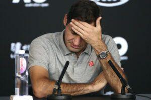 Il tennista Roger Federer durante una conferenza stampa a Melbourne (Gennaio 2020, AP Photo/Dita Alangkara)