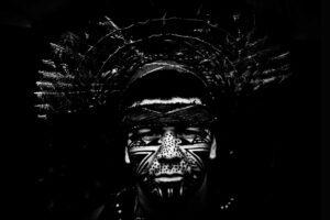 Un indigeno dell'Amazzonia al mercato di Belo Horizonte (Foto Spada – LaPresse 02 07 2014 Belo Horizonte, Brasile)