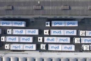 Partiti 72 camion da Padova verso Napoli: in arrivo la struttura per la terapia intensiva Covid- 9 dell'Ospedale del Mare