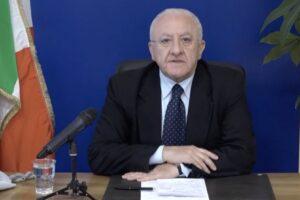 """Arrivi al Sud, De Luca: """"La situazione è sotto controllo, la Campania va verso la normalità"""""""