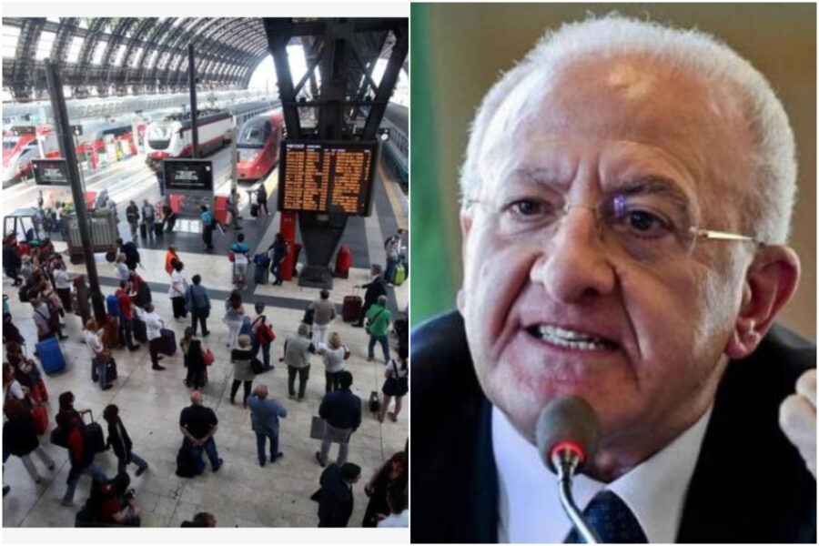 """De Luca: """"In Campania mascherine obbligatorie su autobus e tamponi per chi viene da Paesi extra Schengen"""