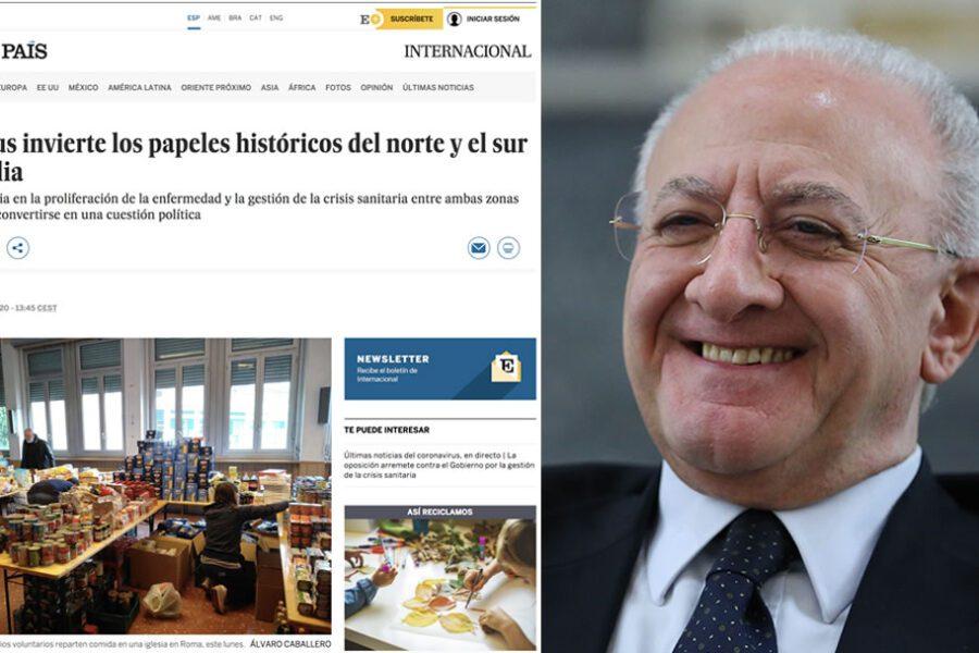 """Vincenzo De Luca spopola in Spagna: """"Carismatico, è il baluardo del lockdown"""""""