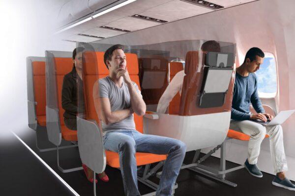 Sedili anti-contagio e 'scudi', così viaggeremo sugli aerei dopo il Coronavirus
