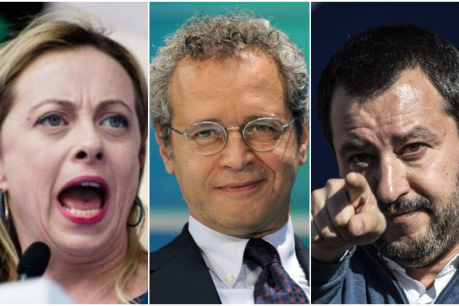 """Meloni, Mentana e Salvini contro Conte: """"Bullo con la tv di Stato"""""""