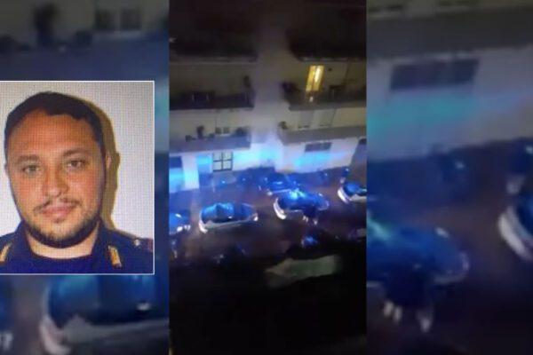 """Poliziotto ucciso, l'omaggio sotto casa: """"Fa' un applauso ai colleghi di papà"""""""