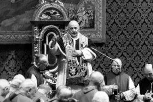 ROMA, 10 MAGGIO 1963 BASILICA DI S.PIETRO NELLA FOTO: PAPA GIOVANNI  XXIII ©LAPRESSE