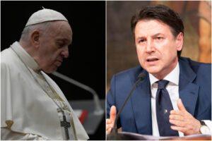 Il Venerdì Santo del Presidente Conte e di Papa Francesco: due immagini che si rimandano