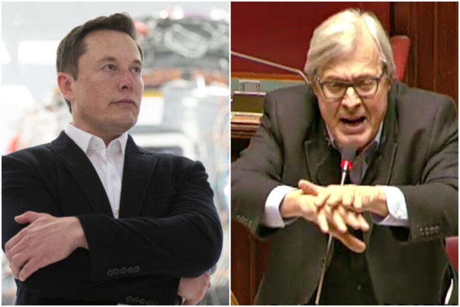 """Elon Musk, l'uomo più potente del mondo: """"Ha ragione Sgarbi"""""""