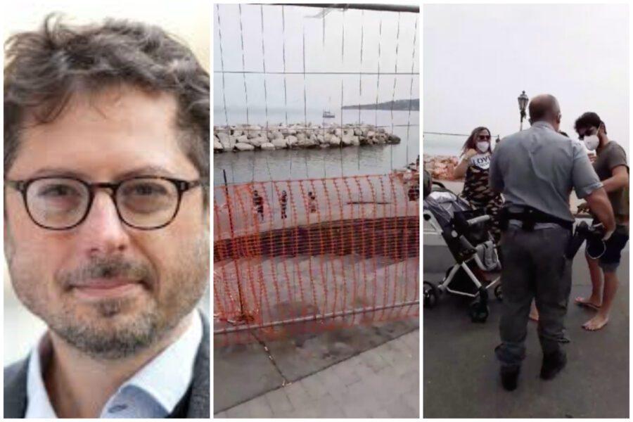 """Show di Borrelli sul lungomare: """"Sto fotografando la transenna"""" ma era in diretta e riprendeva minori"""