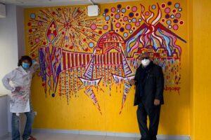 Al Pascale il murales di San Gennaro per illuminare la ricerca