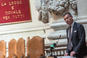 Foto Valerio Portelli/LaPresse 14-09-2019 Roma, Italia Assemblea Generale ANM Cronaca Nella foto: Luca Poniz, Presidente ANM  Photo Valerio Portelli/LaPresse 14 September 2019 Rome, Italy General Assembly of the National Association of Magistrates News In the pic: Luca Poniz, President of National Association of Magistrates