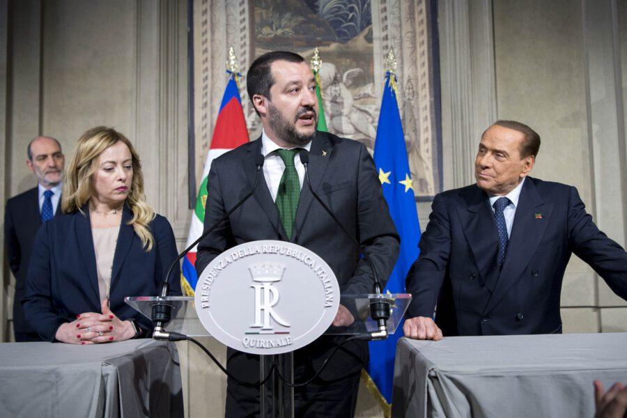 Ascesa e caduta di Salvini, stretto a destra dalla Meloni e al centro da Berlusconi