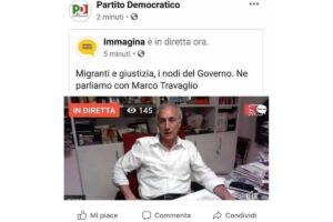 """Grillizzazione del PD: Travaglio ospite a parlare di giustizia, insorge la base """"È uno sfregio"""""""