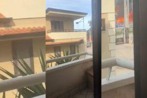 Forte esplosione nel Napoletano, distrutta l'Adler: possibili vittime, vetri rotti nelle abitazioni vicine