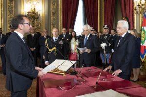 Il Presidente Sergio Mattarella con Alfonso Bonafede,Ministro Giustizia del Governo Conte. (foto di Francesco Ammendola – Ufficio per la Stampa e la Comunicazione della Presidenza della Repubblica)