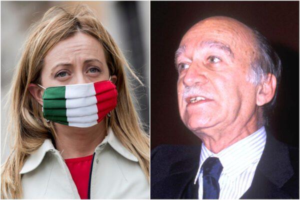"""Giorgia Meloni ricorda il """"patriota"""" Almirante, bufera sul web: """"Collaborò coi nazisti e fu firmatario delle leggi razziali"""""""