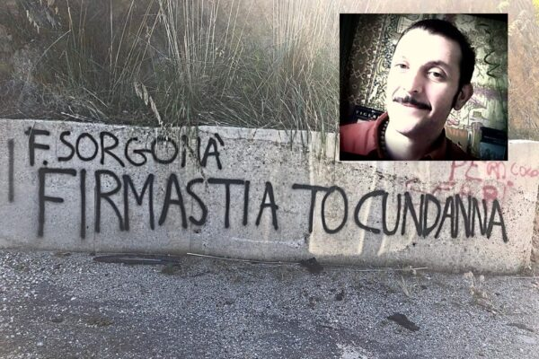 """""""Firmasti a to cundanna"""", minacce di morte a coordinatore delle Sardine"""