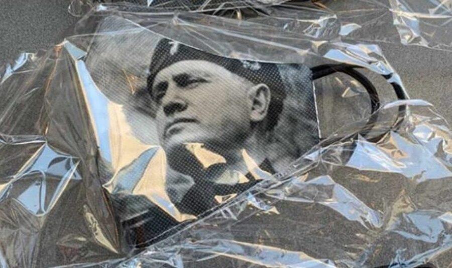 """A Verona mascherine con il volto di Mussolini: """"Fermare subito il mercato dell'orrore!"""""""