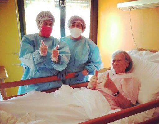 """Nonna Pierina sconfigge il coronavirus a 100 anni: """"E' una guida per tutti noi"""""""