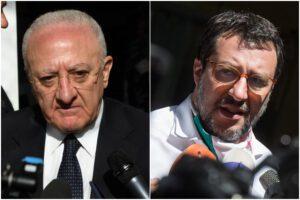 """Salvini-De Luca, è scontro: per il leghista è """"come i dittatori caraibici"""", per il governatore """"un esempio di cialtroneria"""""""