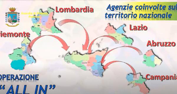 """""""All in"""" della mafia sulle scommesse: sequestri in tutta Italia"""