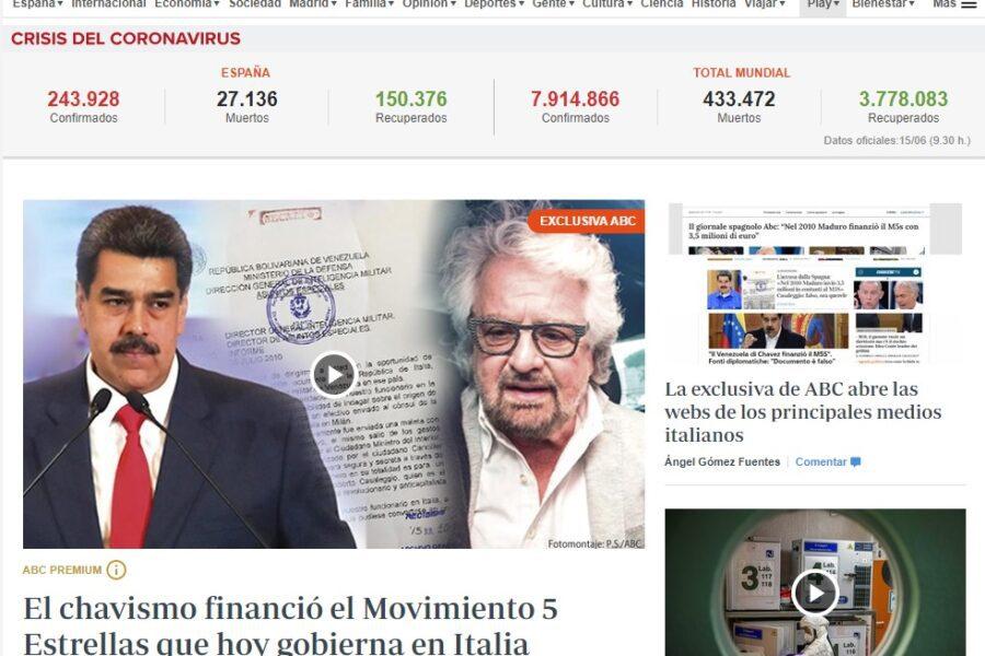 """Dal Venezuela di Chavez 3,5 milioni al Movimento 5 Stelle, i documenti segreti che """"inguaiano"""" Grillo"""
