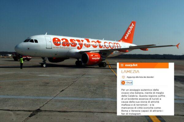 """Calabria """"terra di mafia e terremoti"""", la terribile 'pubblicità' sul sito di EasyJet"""
