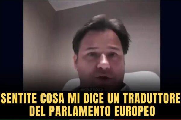 """Interprete lascia microfono acceso e chiama """"cogl***e"""" l'europarlamentare della Lega Ciocca"""