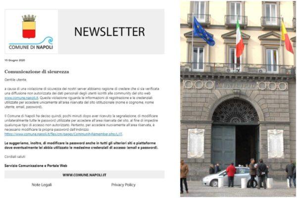 """Attacco hacker al sito del Comune di Napoli, """"Palazzo San Giacomo lo comunica dopo 19 giorni"""""""