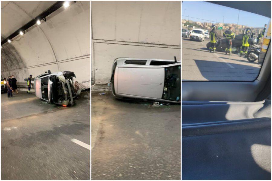 Napoli, paura sul raccordo: due auto ribaltate in pochi giorni. Donna in prognosi riservata