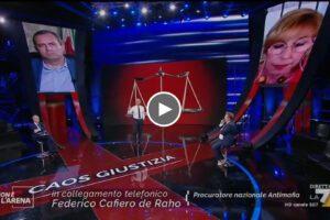Intervento di Federico Cafiero de Raho a Non è l'Arena di Massimo Giletti