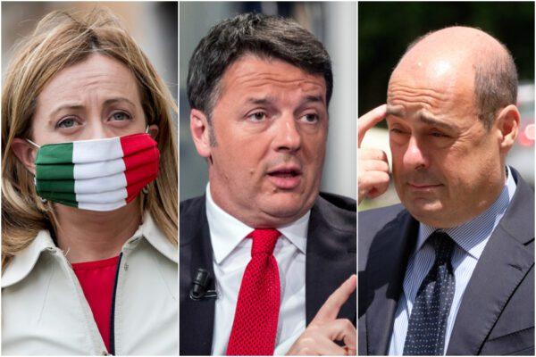 Sondaggio Swg-La7: crollano Pd e Fratelli d'Italia, Renzi e il Movimento 5 Stelle in ripresa