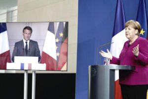 """Macron e Merkel all'UE: """"Prepariamoci alla prossima pandemia"""""""