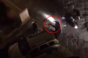 Pistole in pugno rubano motorino durante i festeggiamenti per la Coppa Italia