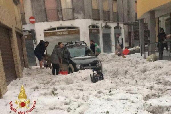 Maltempo a Nembro e Alzano: tempesta di grandi nei due centri della pandemia