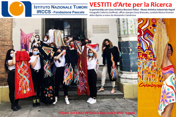 Pascale-Palizzi, in vendita 12 abiti dipinti a mano per la ricerca oncologica