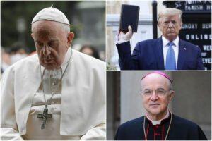 Guerra nella Chiesa, asse tra Trump e monsignor Viganò contro Papa Francesco