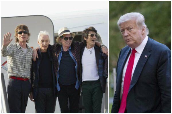 """Rolling Stones avvertono Trump: """"Non usare più la nostra musica per fare politica"""""""