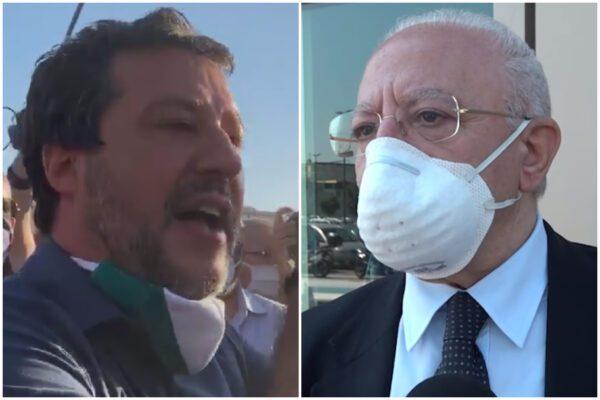 """De Luca 'pazzo' di Salvini: """"Ci fa rilassare, è il più grande sfondatore di porte aperte"""""""