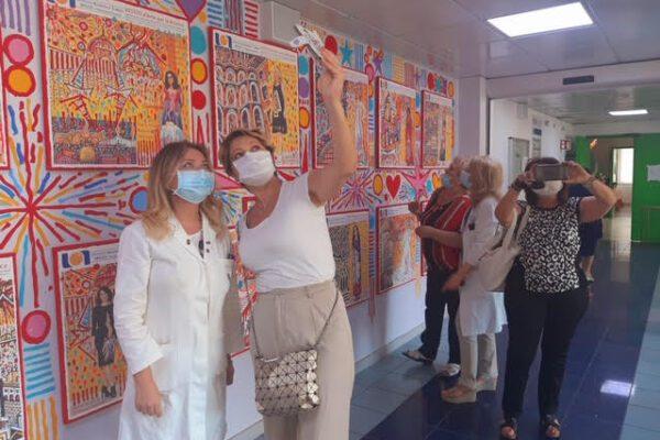 """La gioia di Maria, Annunziata e Valentina, le pazienti del Pascale: """"Le pareti colorate sono vita"""""""