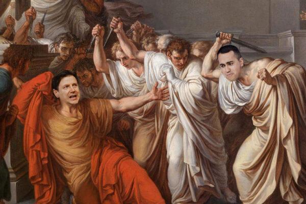 Conte come Cesare: si autoproclama imperatore ma deve stare attento a Di Maio Bruto…