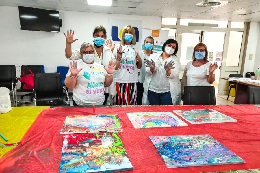 Pazienti artisti per un giorno, al Pascale pittura come cura