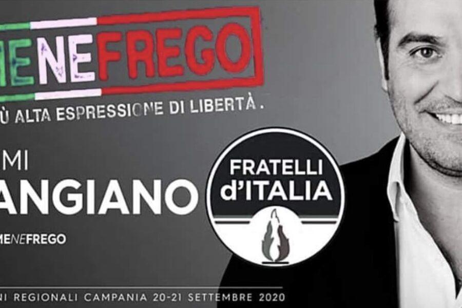 Motto fascista per la campagna elettorale, bufera sul candidato della Meloni in Campania
