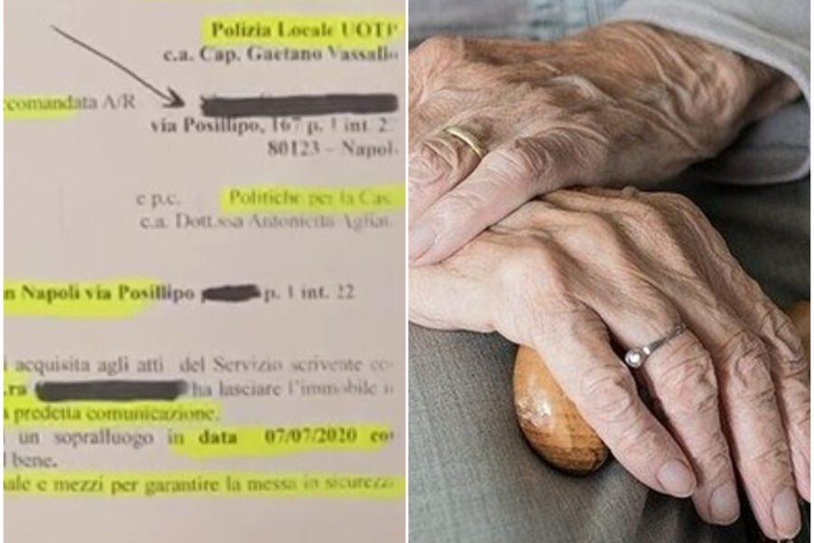 """Il Comune la sfratta, Grazia muore. Il messaggio all'avvocato: """"Sono quasi cieca e malata di cuore"""""""