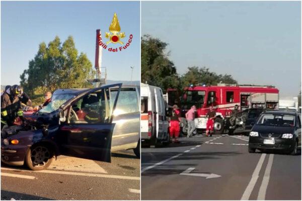 Tragedia sulla statale Jonica, frontale tra furgone e auto: due morti e due feriti