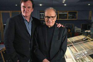 Quentin Tarantino ed Ennio Morricone (Fonte Twitter New Beverly Cinema)