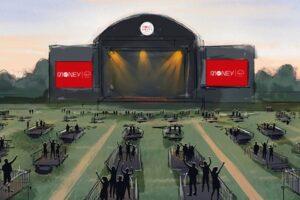 Musica, balconcini e distanza: a Newcastle l'arena per i live in sicurezza
