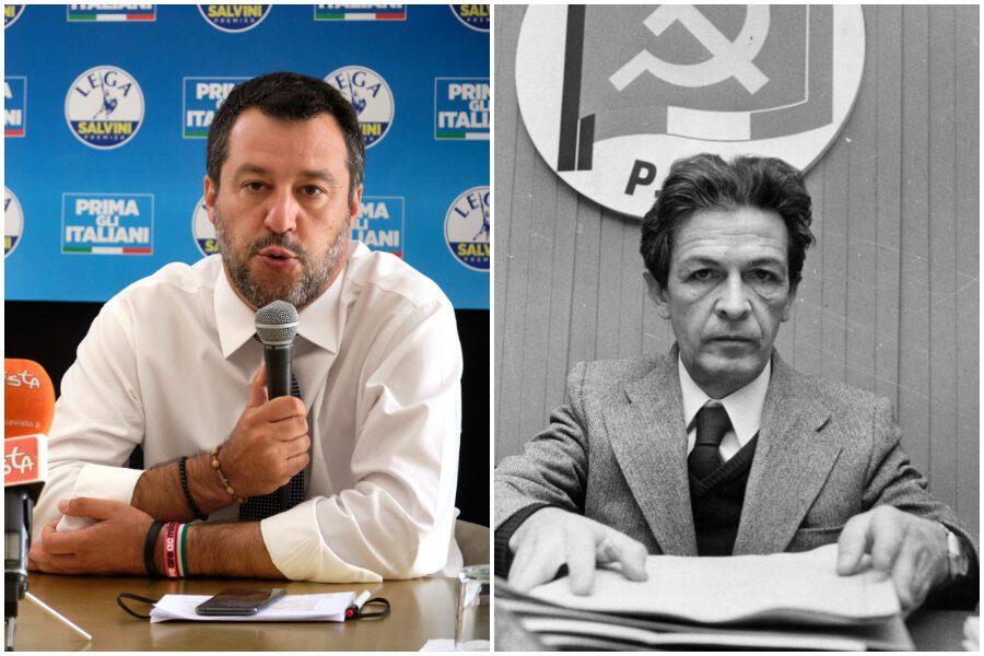 """La provocazione di Salvini: """"I valori della sinistra di Berlinguer ..."""