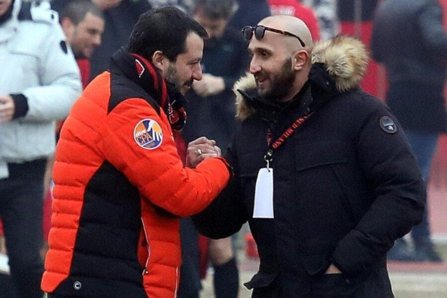 Confiscati i beni al capo ultrà del Milan Lucci, leader della Curva Sud che incontrò Salvini