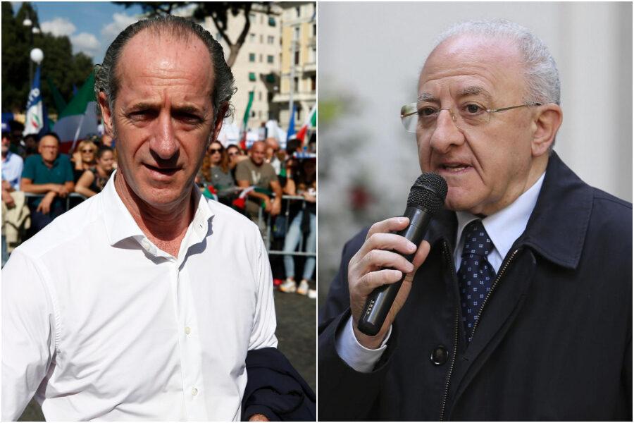 Sondaggio Winpoll sui governatori: boom Zaia e De Luca, male i presidenti di centrodestra